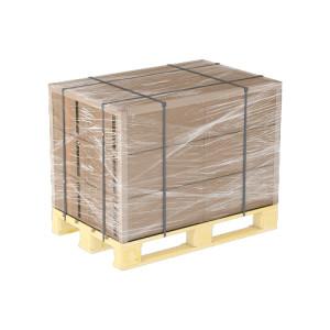 Упаковка стоительных материалов стрейч пленкой