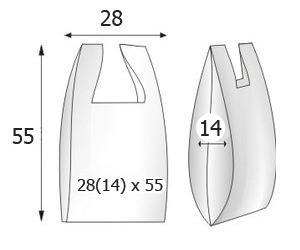 Пакеты майка с логотипом 28х55