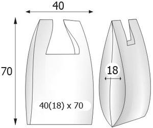 Пакеты майка с логотипом 40x70